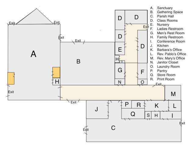 church building layout